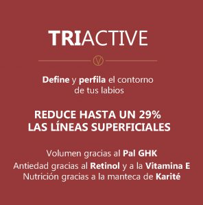 caracteristicas de triactive para dar volumen a los labios